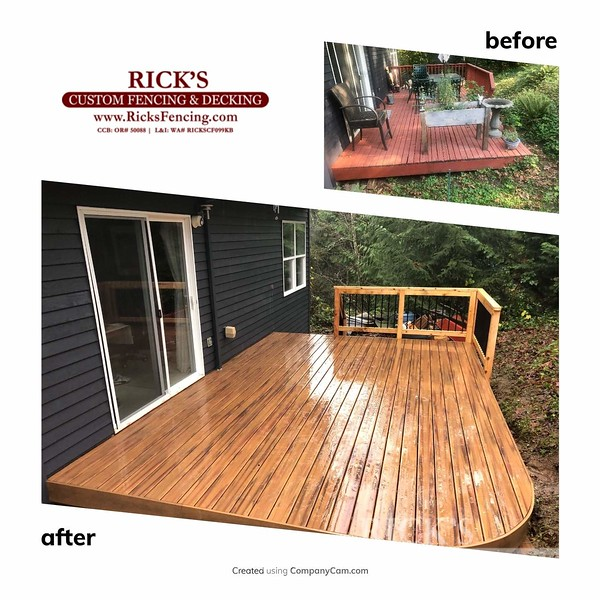 Before & After Armadillo Decking
