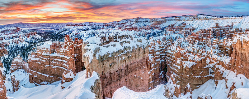Snowy Sunrise at Bryce Canyon