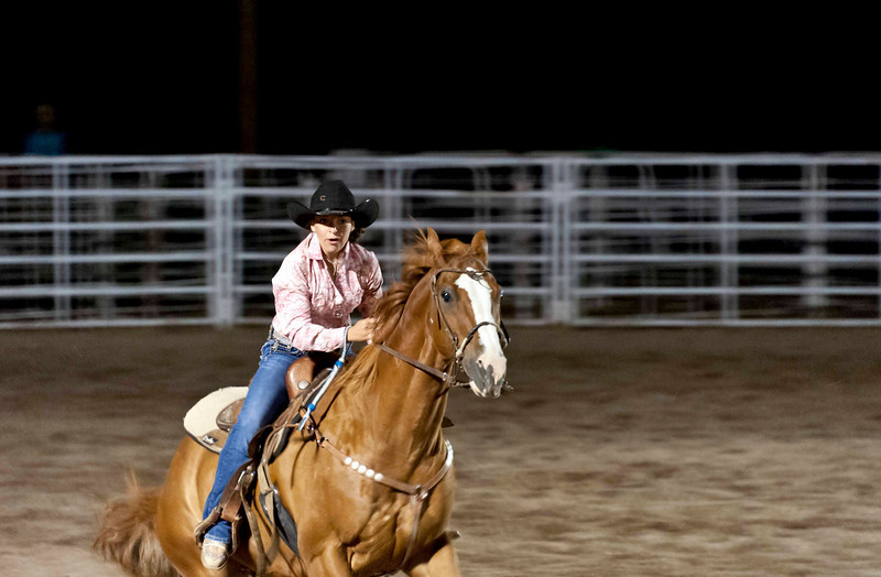 barrel racing - focused attention, both horse and rider; it's an amazing event to watch!