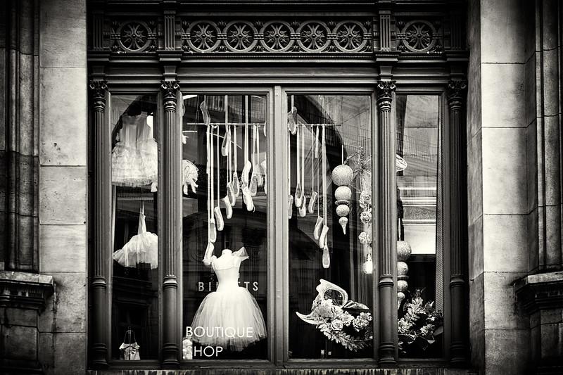 Window display at the Palais Garnier in Paris