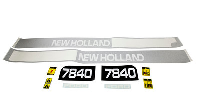 FORD NEW HOLLAND 7840 SERIES BONNET DECAL SET