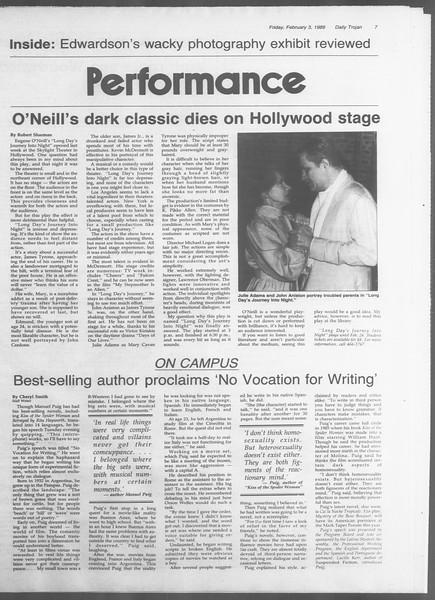 Daily Trojan, Vol. 108, No. 16, February 03, 1989