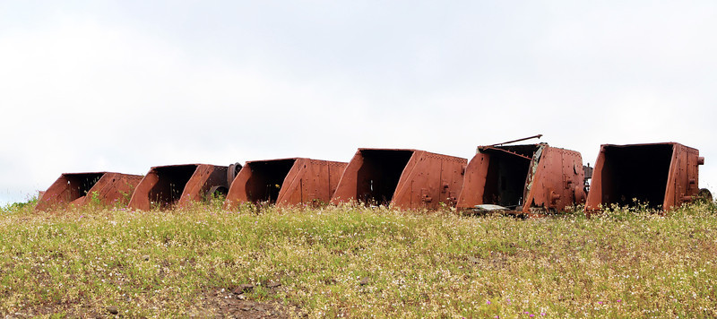 ... and several abandoned ore buckets.