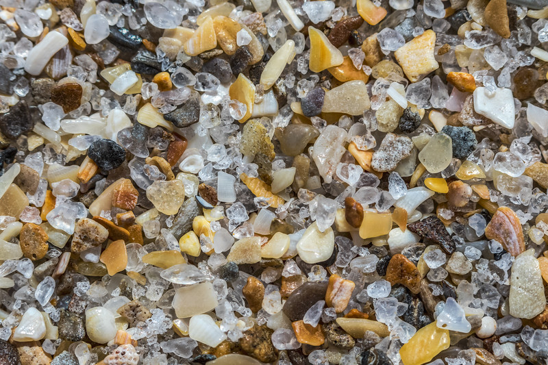 Macro closeup of sand at Playalinda Beach along the Canaveral National Seashore