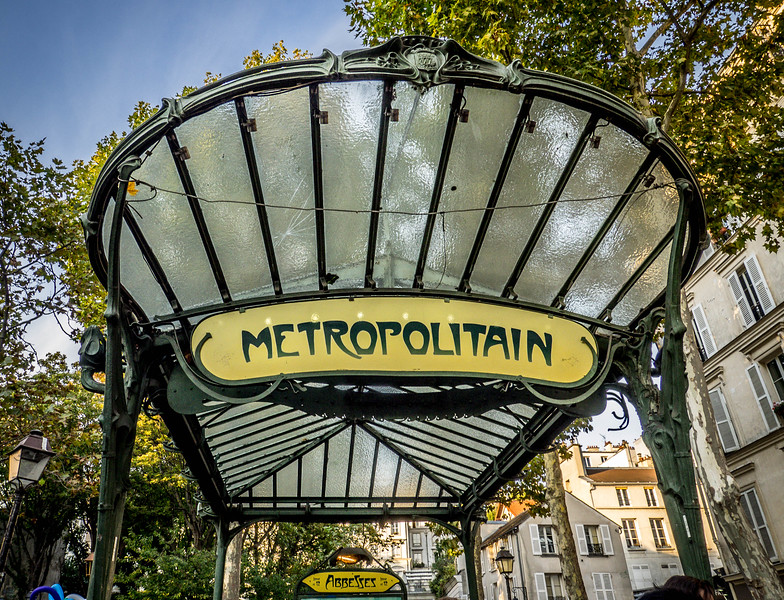 Metropolitain subway stop - Paris
