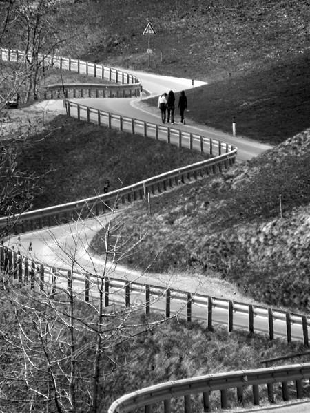 Winding Road - Val di Vizze, Bolzano, Italy - April, 14, 2009