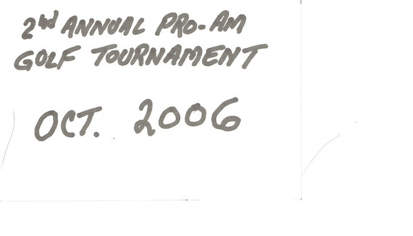 2006 - 2nd Pro-Am Golf