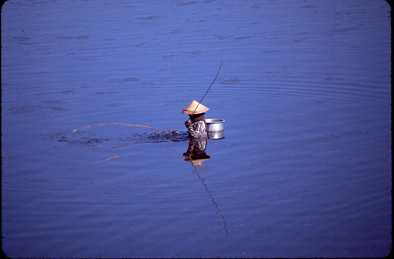 fishing with two poles
