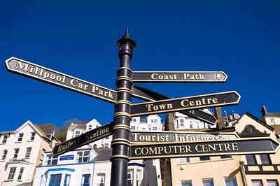 Signpost, Looe, Carnwall, United Kingdom