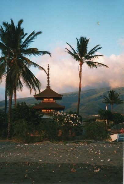 0530 - Lahaina, sunset & pagoda