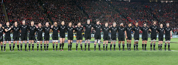 All Black's during game 7 of the British and Irish Lions 2017 Tour of New Zealand, the first Test match between  The All Blacks and British and Irish Lions, Eden Park, Auckland, Saturday 24th June 2017 (Photo by Kevin Booth Steve Haag Sports)  Images for social media must have consent from Steve Haag
