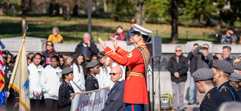 """GySgt Preston conducts all bands for the """"US Armed Forces Salute"""""""