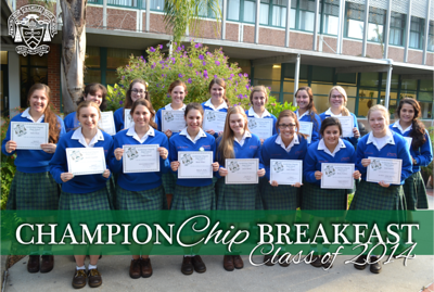 ChampionChip Breakfast - Class of 2014