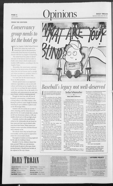 Daily Trojan, Vol. 154, No. 51, April 06, 2005
