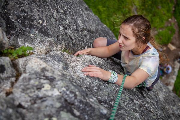Climbing at The Diamond