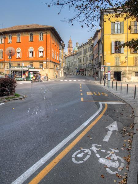Via Ludovico Ariosto - Reggio Emilia, Italy - October 14, 2011