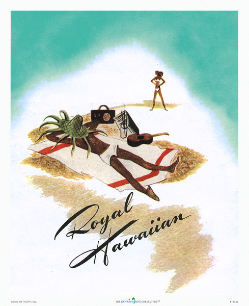 147: 'Royal Hawaiian' Hotel Brochure cover, ca. 1957.