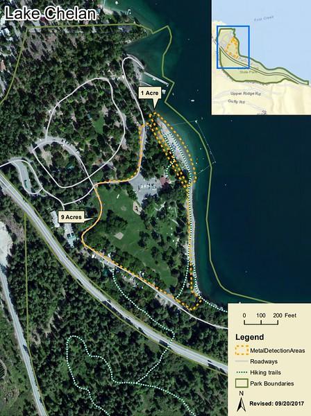 Lake Chelan State Park (Metal Detection Areas)