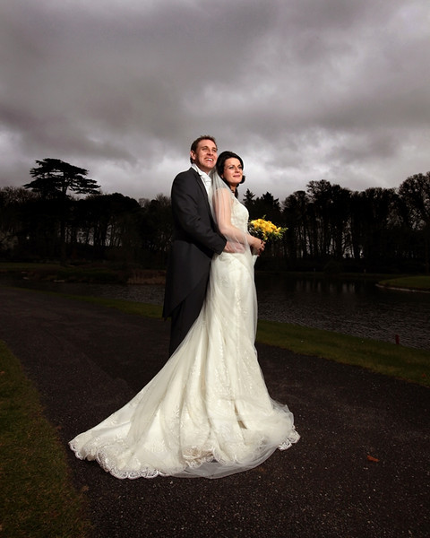 """Just wanted to say thank you again for the beautiful wedding album and the larger framed photographs which our Mums were delighted with! If you would like to add this (belated!) testimonial from us to the website please feel free...  """"If you're looking for beautiful photographs with a minimum amount of intrusion into your day, we couldn't recommend William more highly.  We first met William at a wedding fair in Fota and instantly felt comfortable with him and knew we could trust him to photograph our special day.  We wanted someone who would be professional, creative and thorough (and would make us look good!) but who would also be unobtrusive, relaxed and low on drama. With William we got exactly that. On the day of the wedding he put everyone at ease and got the job done with good humour and no fuss. He was practically invisible in the Church and worked miracles in getting all photographs taken in a minimum amount of time afterwards, giving us a chance to enjoy our drinks reception and mingle with our guests. """" Wishing you both all the best for the future.  With best wishes, Lisa and Niall"""