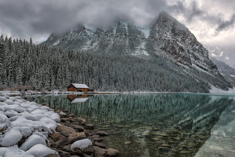 Wintry Lake Louise