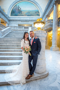 Kaili and Zack Bridals State Capitol and Temple Square