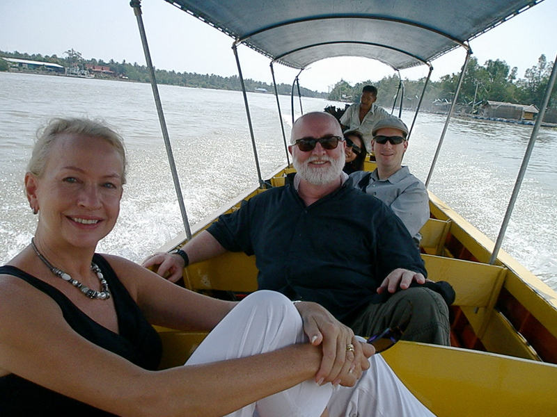 Verne, Roy, Scott & Bow on the Mae Khlong River