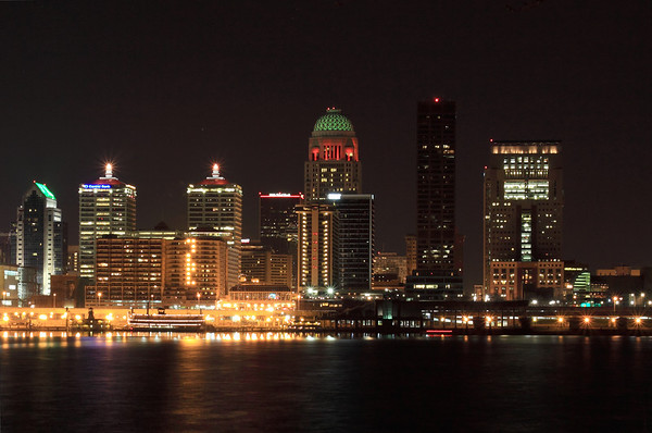 Louisville Downtown at night