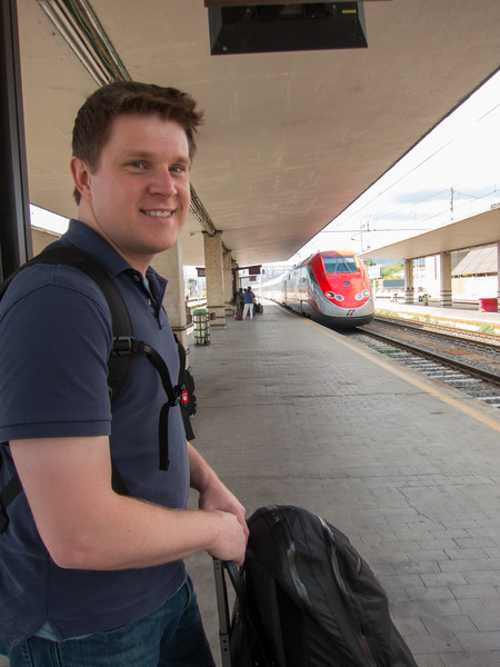 Waiting on the train to Rome!