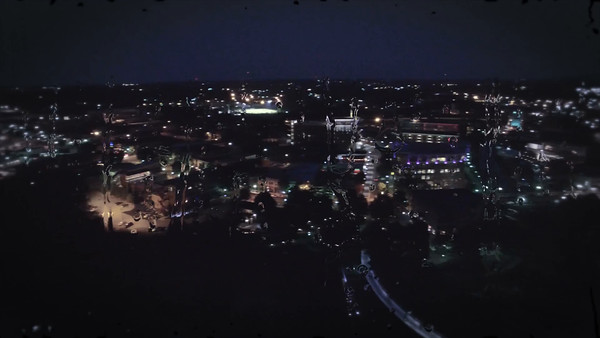 Aerial of Greenville South Carolina at Night