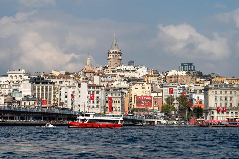 View towards Karaköy in Istanbul