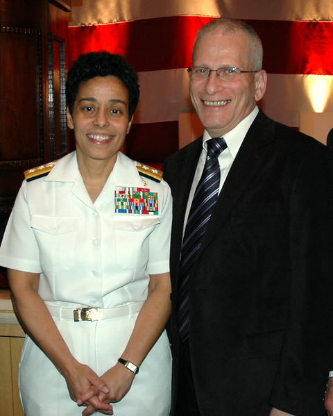Rear Admiral Michelle Howard, USN and  Isaac Michalowski (BAE Systems)