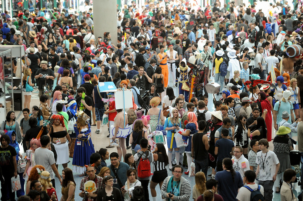 . A large crowd at the Anime Expo at the L.A. Convention Center, Saturday, July 6, 2013. (Michael Owen Baker/L.A. Daily News)