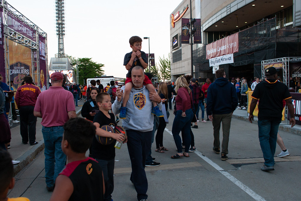 . Seen prior to game 3 of the 2018 NBA Finals in Cleveland on June 6, 2018.  Michael Johnson/ The News Herald