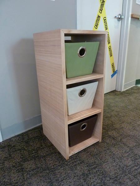 Prototype dressing station drawer cabinet.