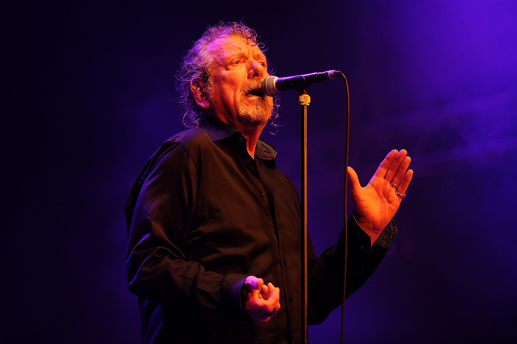 . Former Led Zeppelin lead singer Robert Plant performs on stage with his band The Sensational Space Shifters at Bluesfest Byron Bay 2013 - Day 3 on March 30, 2013 in Byron Bay, Australia.  (Photo by Matt Roberts/Getty Images)