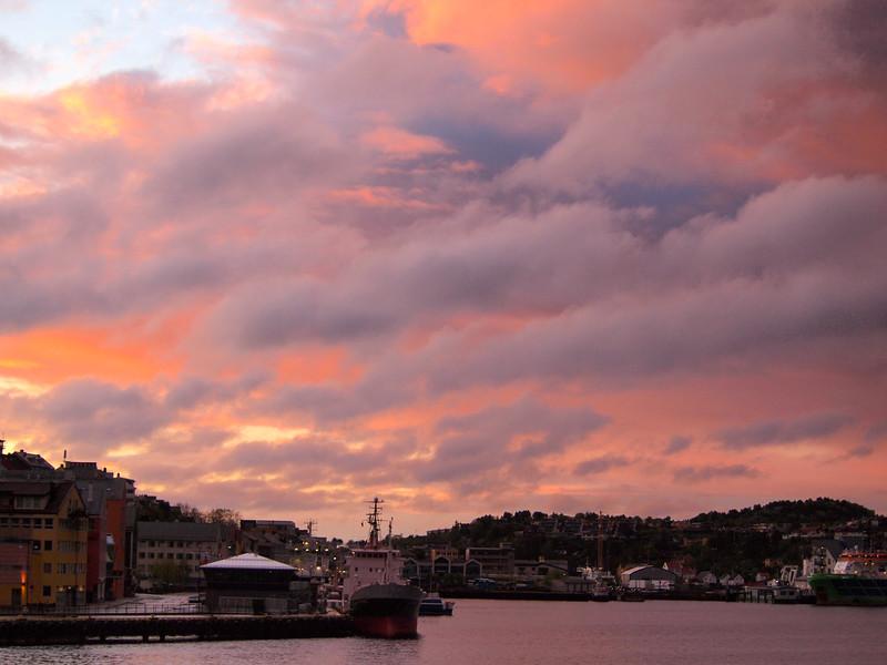 Sunset in Kristiansund, Norway