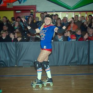 Queen City Roller Girls 02-16-13 KO v DD
