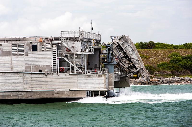 Navy ship entering Port Canaveral