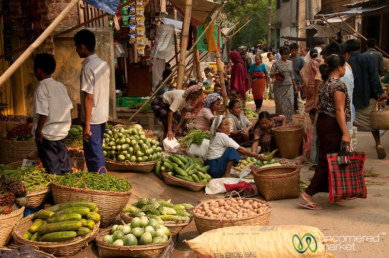 Street Scene on Market Day - Bandarban, Bangladesh