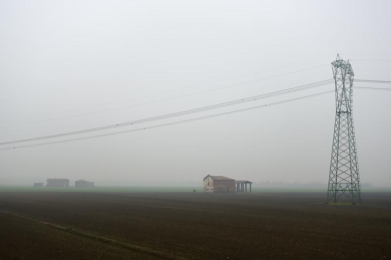 High Voltage Line - Crevalcore, Bologna, Italy - Novembre 25, 2014