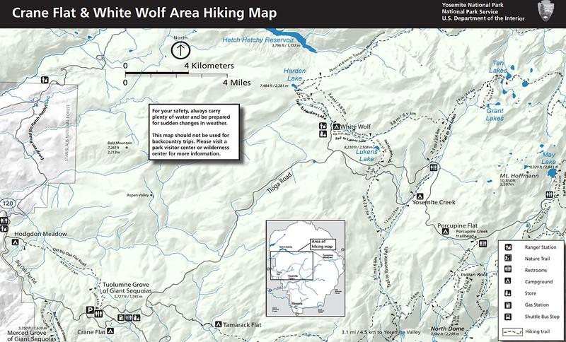 Yosemite National Park (Trails - White Wolf & Crane Flat Area)
