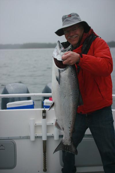 Sheldon with a nice Chinook salmon.