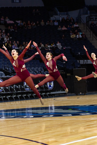 Holy Family's Abbey Hope '23 at 2020 MSHSL State Jazz Tournament Final - Collin Nawrocki/The Phoenix