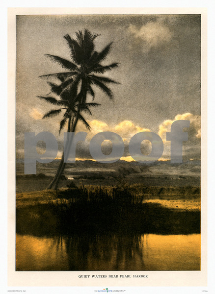 258: 'Quiet Waters Near Pearl Harbor' Paradise of the Pacific Magazine Photograph. Ca 1930. (PROOF watermark will not appear on your print)