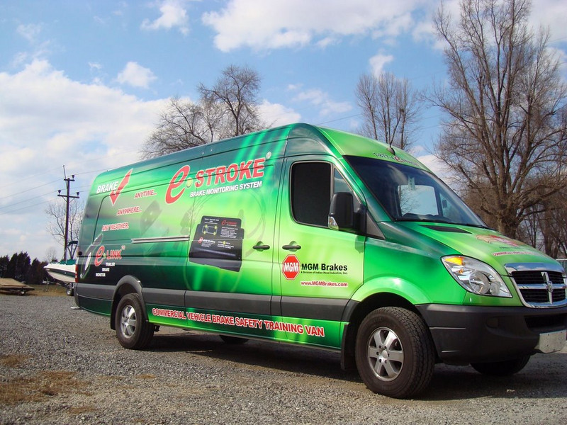 Vehicle Wrap installed on a Sprinter for MGM Brakes in North Carolina.    http://www.skinzwraps.com