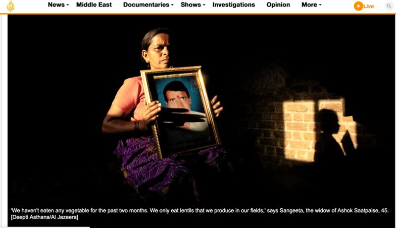 Al- jazeera - Farmer widows of India