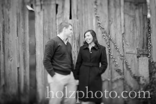 Joanne & Justin B/W Engagement Photos