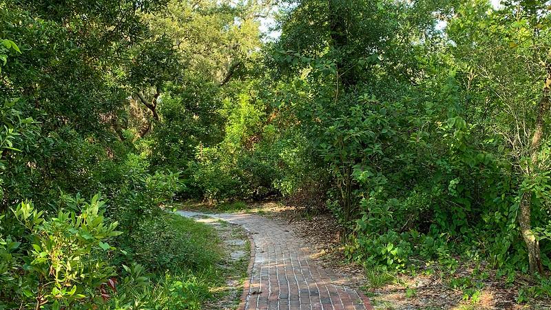 Brick walkway at Sawgrass Lake Park
