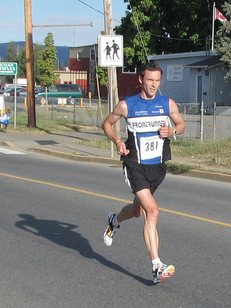 2005 Run Cowichan 10K - Whoa, she's done.  Good effort.