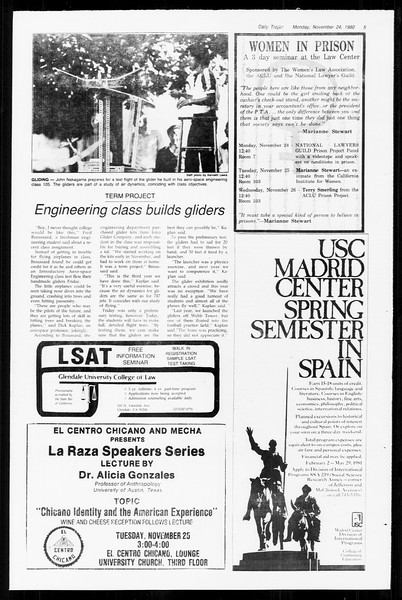 Daily Trojan, Vol. 89, No. 47, November 24, 1980